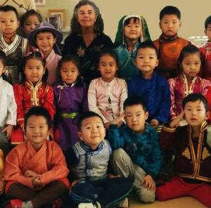 mongolia 2 school children
