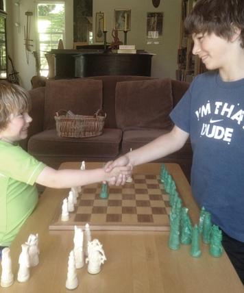 2 shaking hands