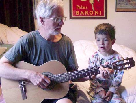 1 grandpa on guitar
