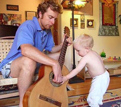 3 touching guitar strings